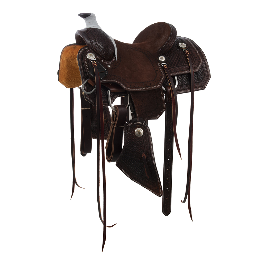 BURNS CHOCOLATE YOUTH ROPER SADDLE