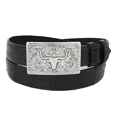 SUNSET TRAILS SS TERREL BUCKLE W/STEER