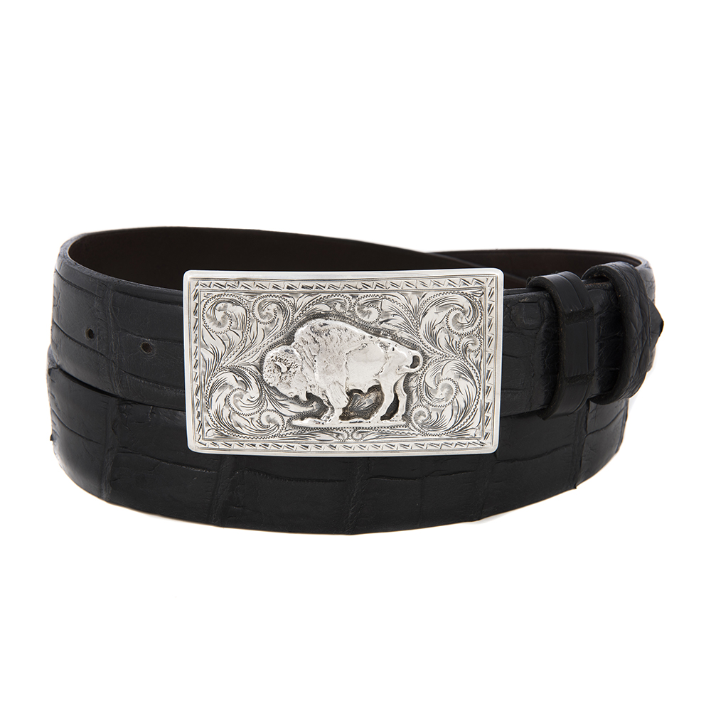 SUNSET TRAILS SS TERREL BUCKLE W/BISON