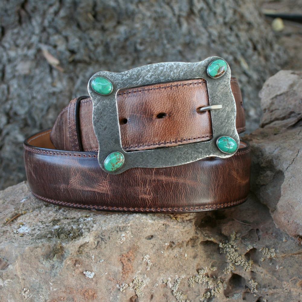 LARGE HART BUCKLE WITH CROSS HATCH