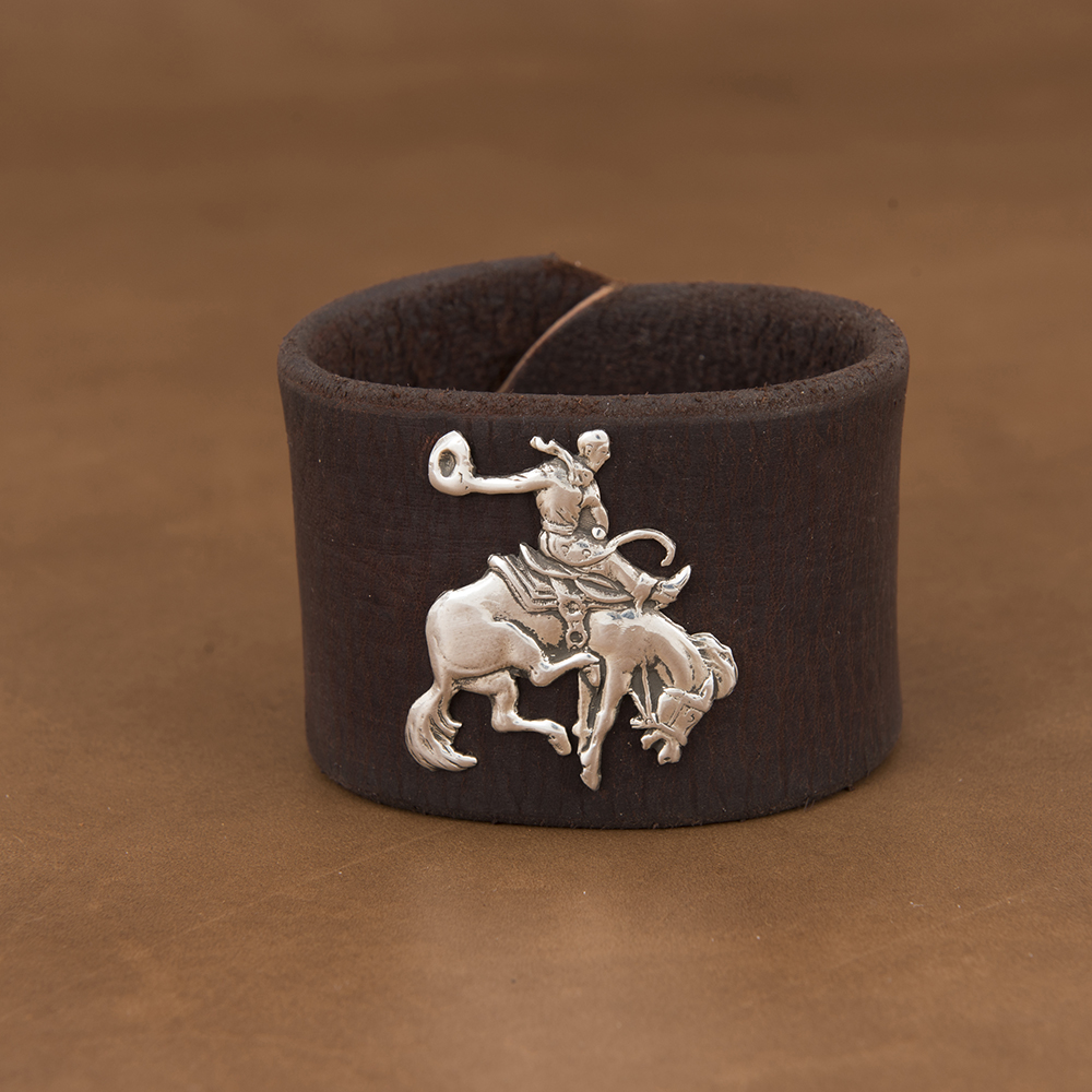 BUCKAROO AND WEATHERED LEATHER CUFF