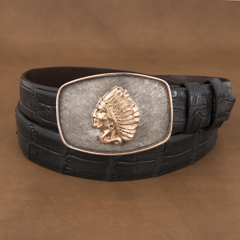COLT 14K RED GOLD CHIEF WESTERN BUCKLE