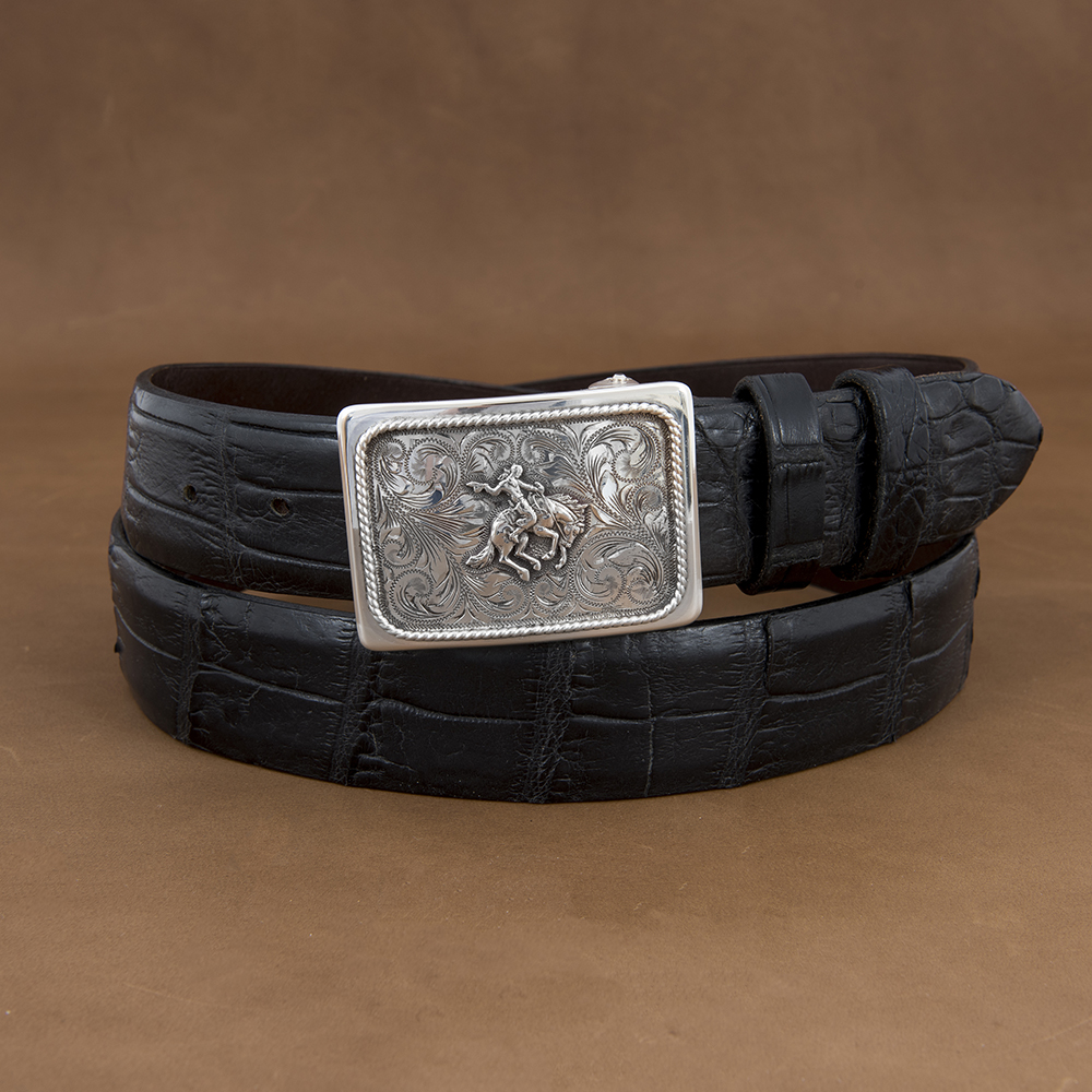 SUNSET TRAILS GROVE 5 BUCKLE W/ SS BRONC