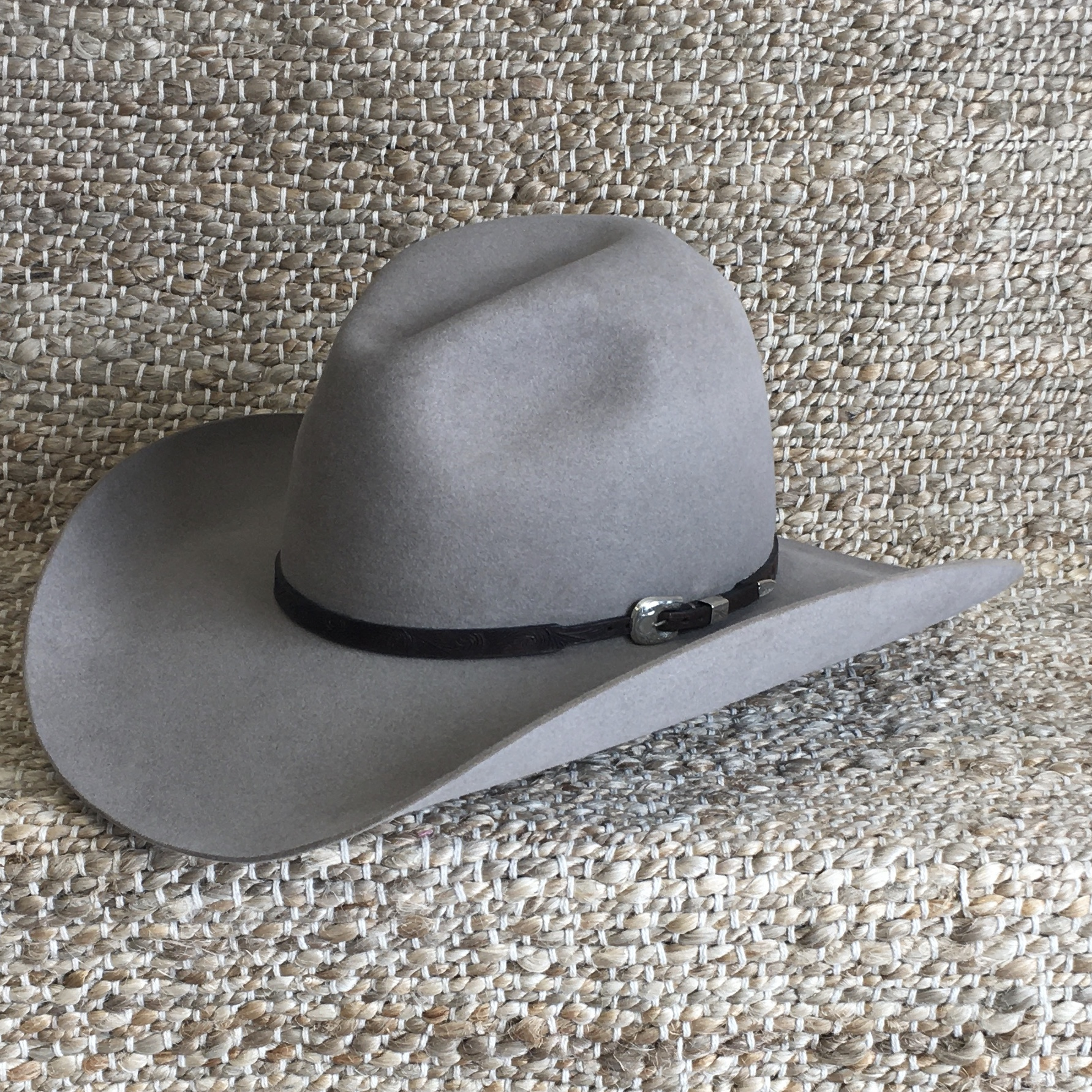 CHOCOLATE FINGER CARVED HAT BAND 3/8-1/4 (3 AVAILABLE)