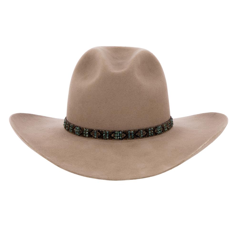Picasso Turquoise Boho Hatband w/Czech Beads