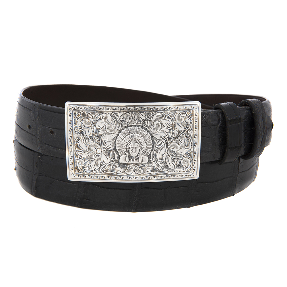 SUNSET TRAILS SS TERREL BUCKLE W/CHIEF