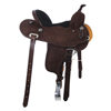 BURNS SADDLERY CHOCOLATE BARREL SADDLE