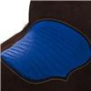 BURNS SADDLERY CHOCOLATE BARREL W/BLUE