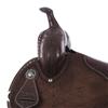 CHOCOLATE BARREL W/BURGUNDY PYTHON INLAY