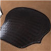 CHESTNUT BARREL SADDLE W/BC CAIMAN INLAY ()