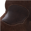BURNS CHOCOLATE SO/RO FEATHER/FLORAL CORNER MOCHA BISON INLAY