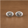 14K GOLD STEER CUFFLINKS (2 AVAILABLE)