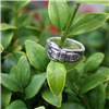 ST STERLING SILVER BUCKLE RING 9