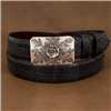 SUNSET TRAILS ENGRAVED MESA BUCKLE W/ ROSE