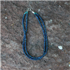 "2 STRAND 18"" LAPIS/KINGMAN TQ NECKLACE"