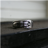 ST STERLING SILVER BUCKLE RING 6 (1 AVAILABLE)