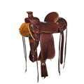 BURNS SADDLERY™ WESTERN RANCH SADDLE ()