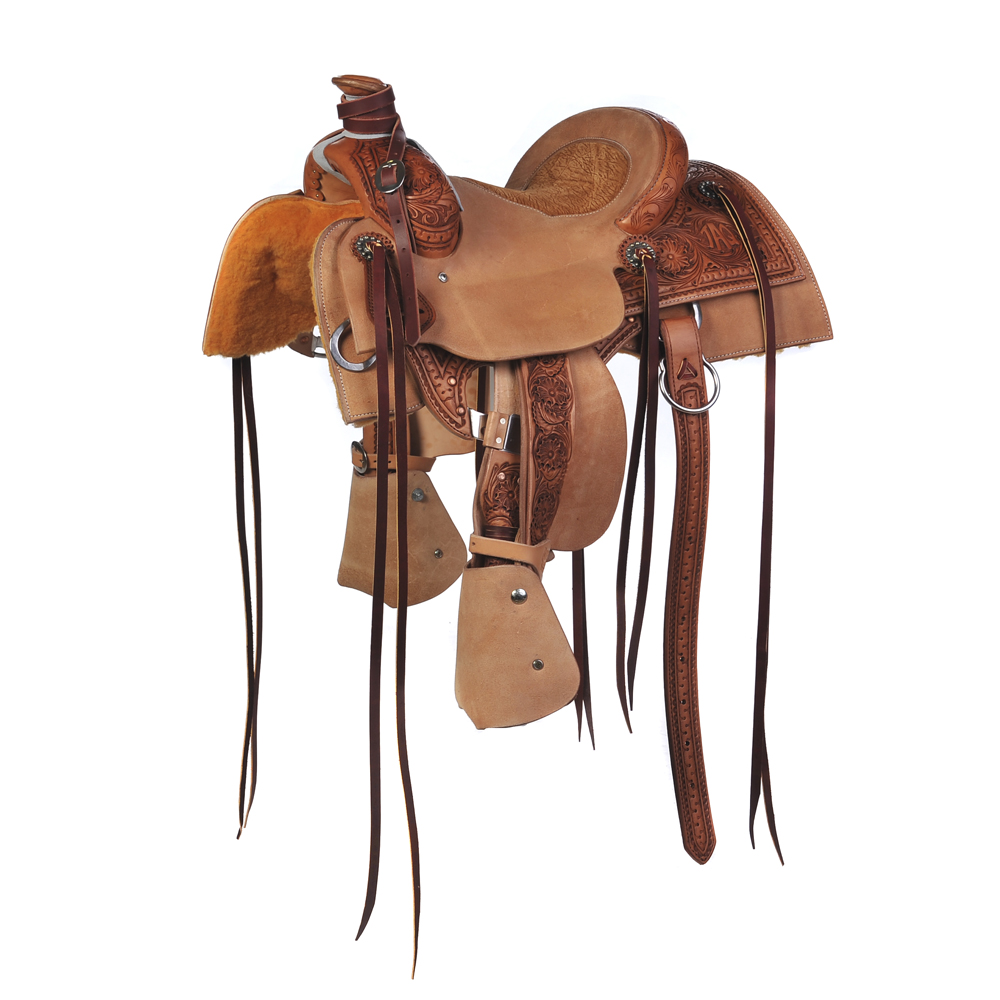 BURNS SADDLERY™ YOUTH RANCH ROPER SADDLE ()