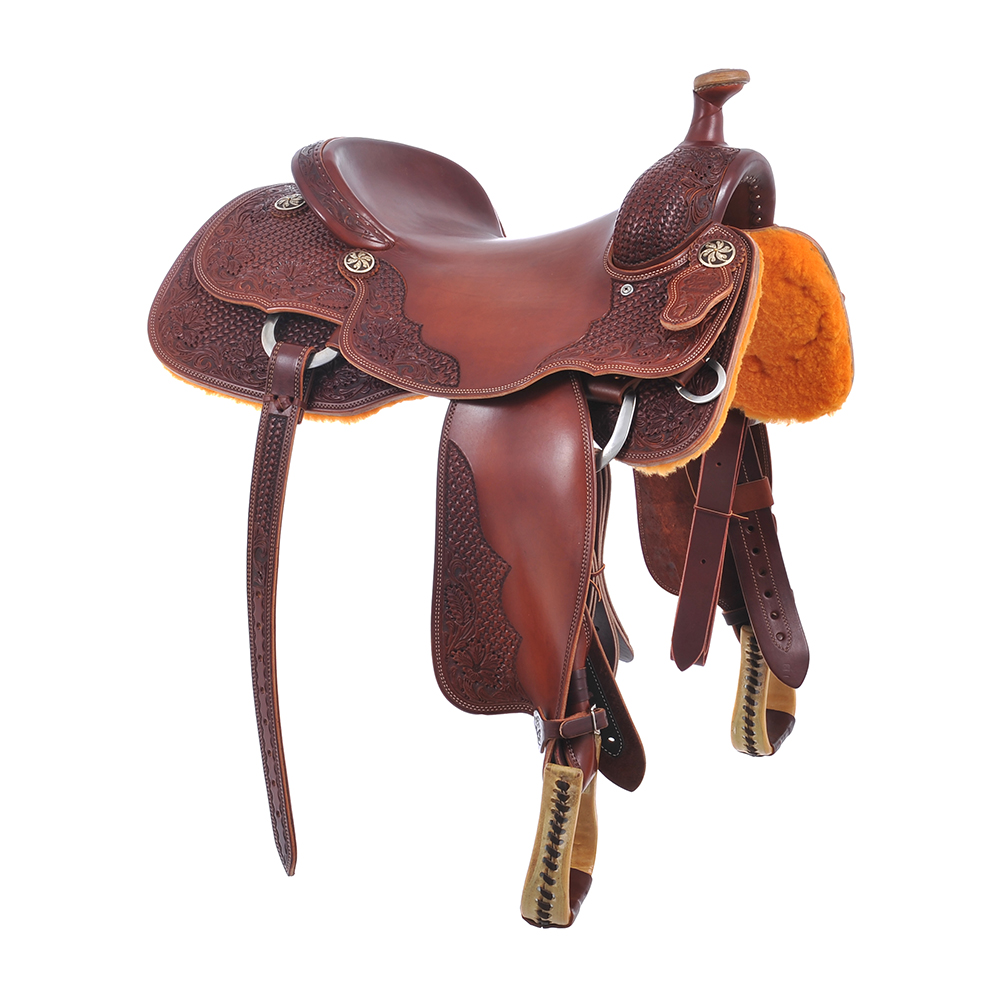 BURNS CUSTOM RANCH CUTTER SADDLE