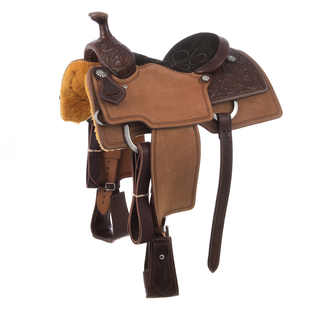 BURNS SADDLERY™TEAM ROPER /DBL CUT LINES
