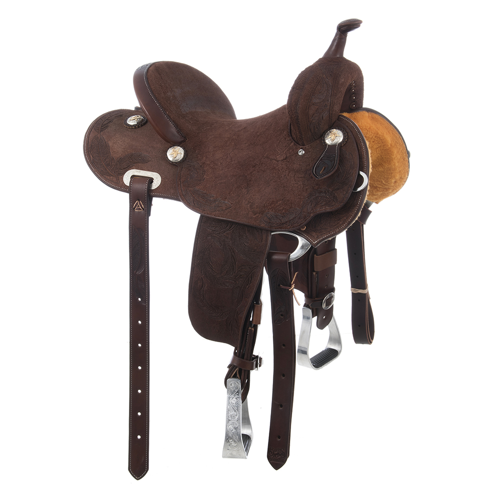 BURNS SADDLERY CHOCOLATE BARREL SADDLE ()