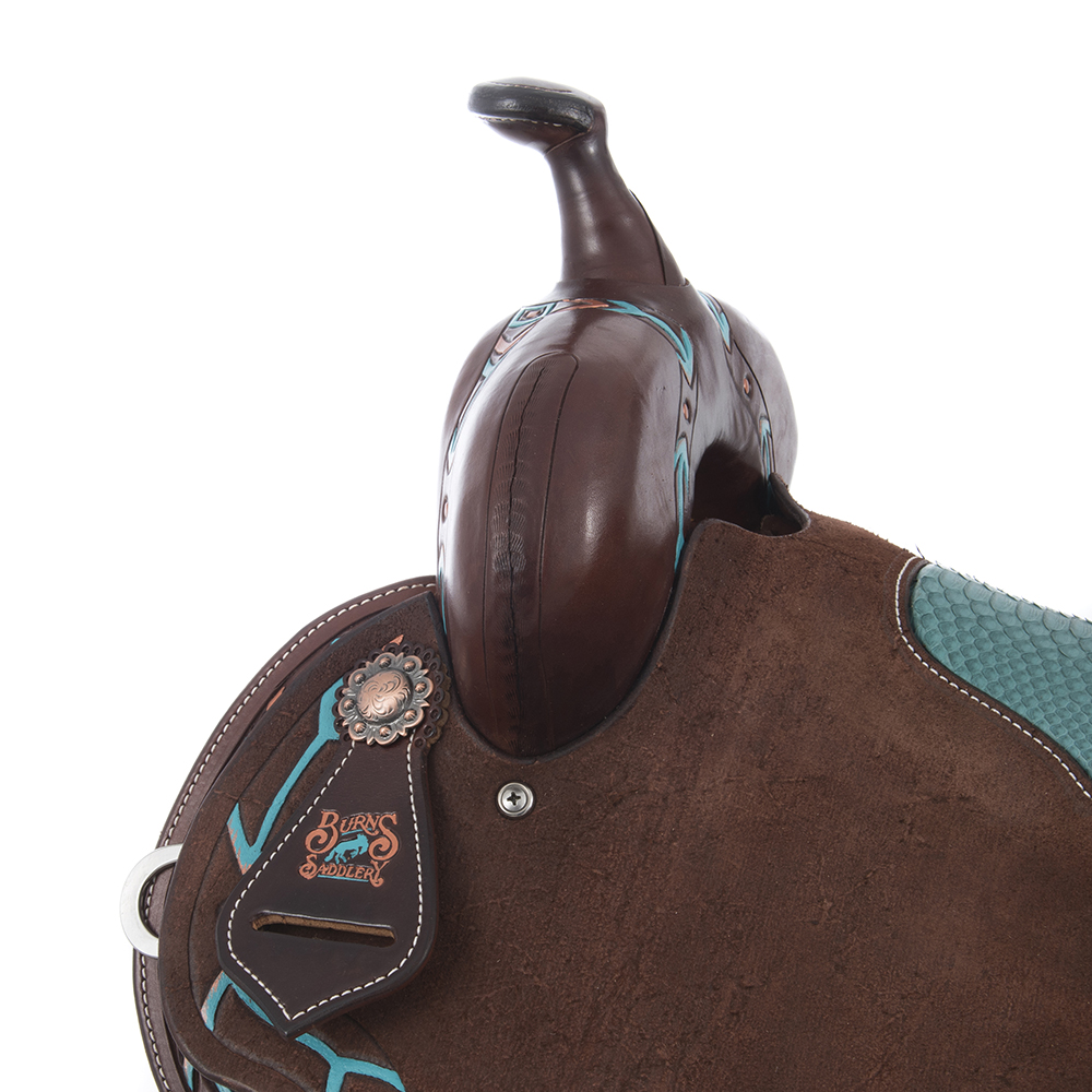 BURNS SADDLERY CHOC BARREL ARROW TOOLING