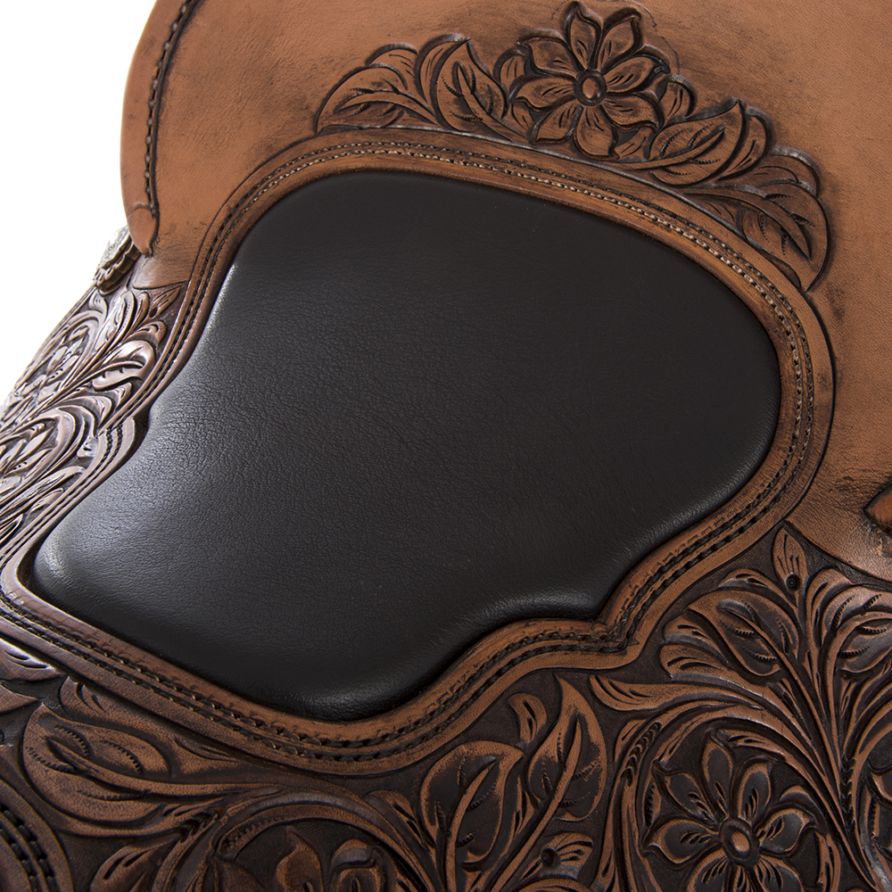BURNS LEWIS TEAM ROPER RUSSET SADDLE ()