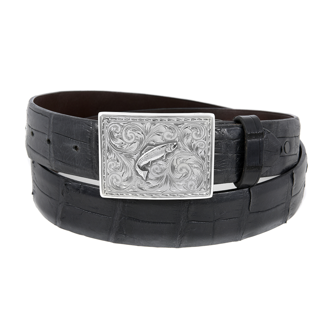 SUNSET TRAILS SAWTOOTH TROUT BUCKLE