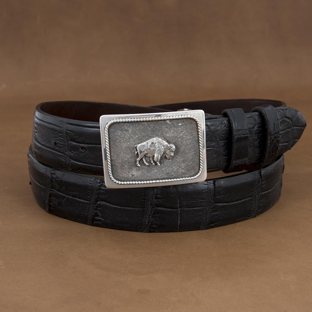 SUNSET TRAILS GROVE 4 BUCKLE W/ SS BISON