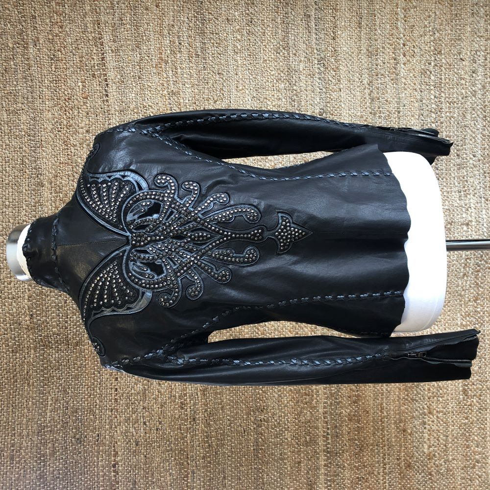 LADIES BLACK MME BUTTERFLY JKT W/CRYSTALS