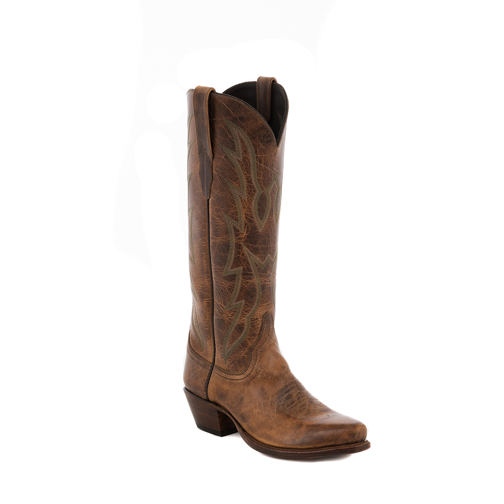 "LADIES BURNS WHISKEY BISON 15"" COWBOY BOOT"