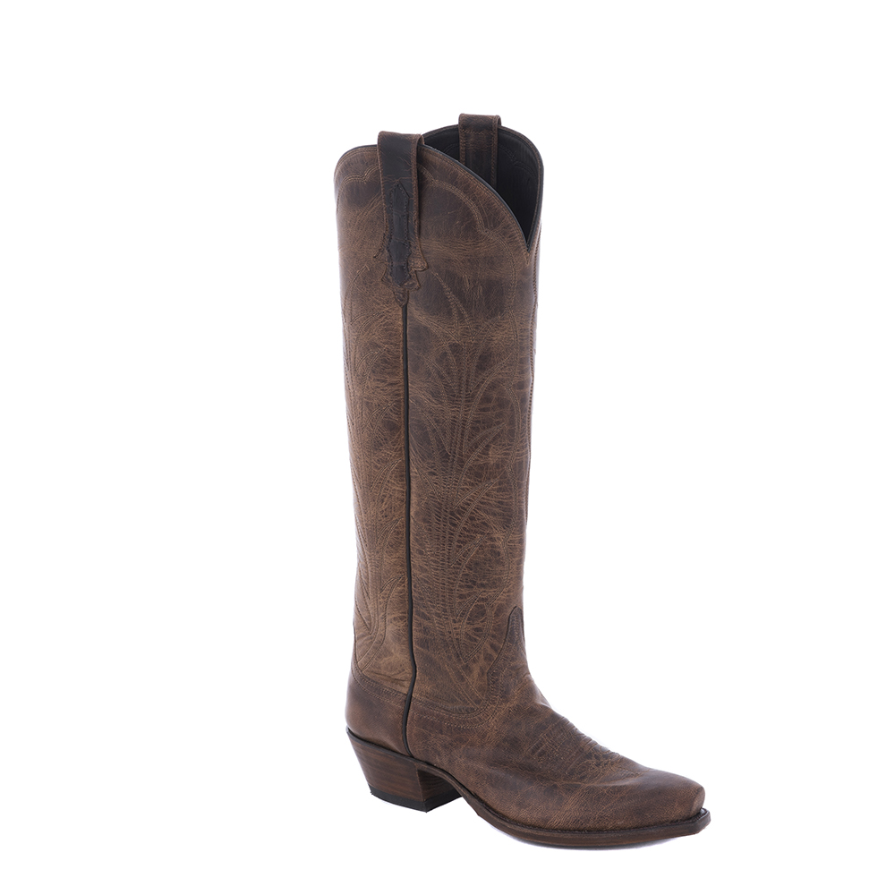 "LADIES CANELA GOAT 17"" COWBOY BOOT"