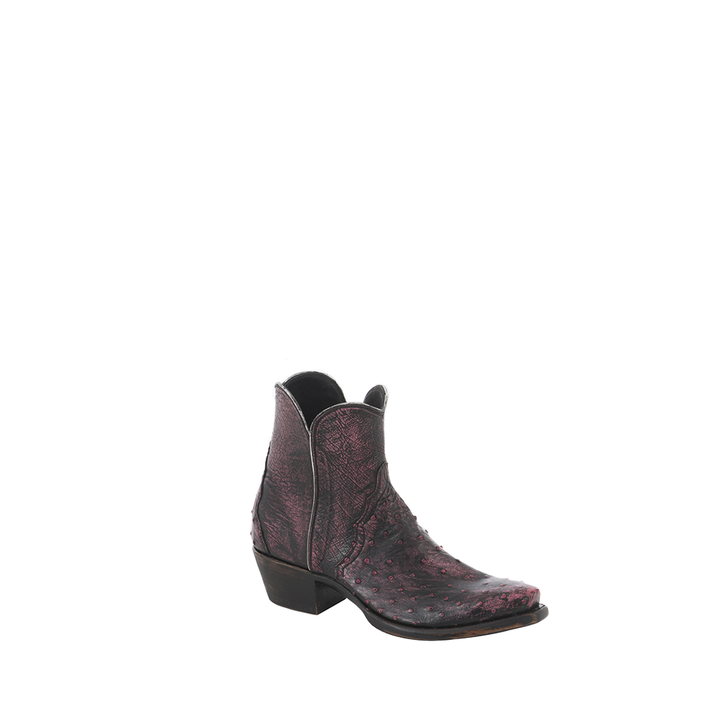 LADIES SHORTY BK WASHED PINK FQ OSTRICH