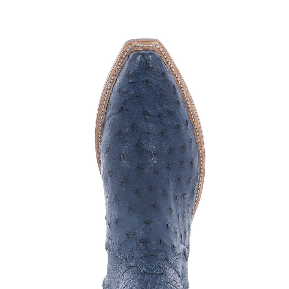 LADIES SHORTY INDIGO BLUE OSTRICH