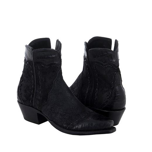 LADIES SHORTY BLACK BREAK BK CAIMAN WT-HF-COL BK BUCKSTICH