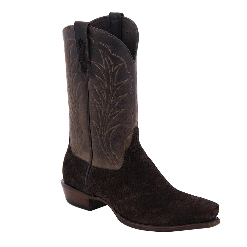 "Men's Cowboy 12"" Chocolate Hippo, Tobac Goat Winn Stitch"