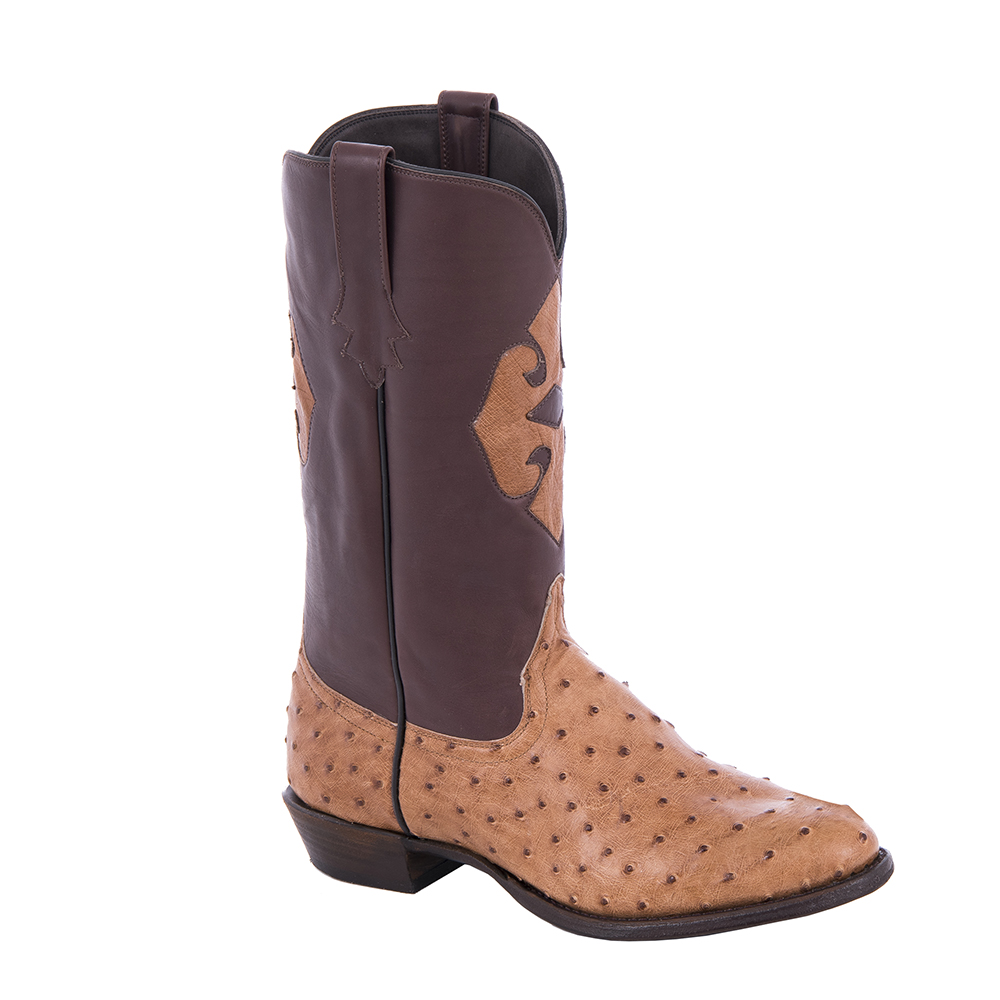 """Mens Cowboy 13"""" Cognac MD FQ OST French Calf Brown Upper Inlay"""
