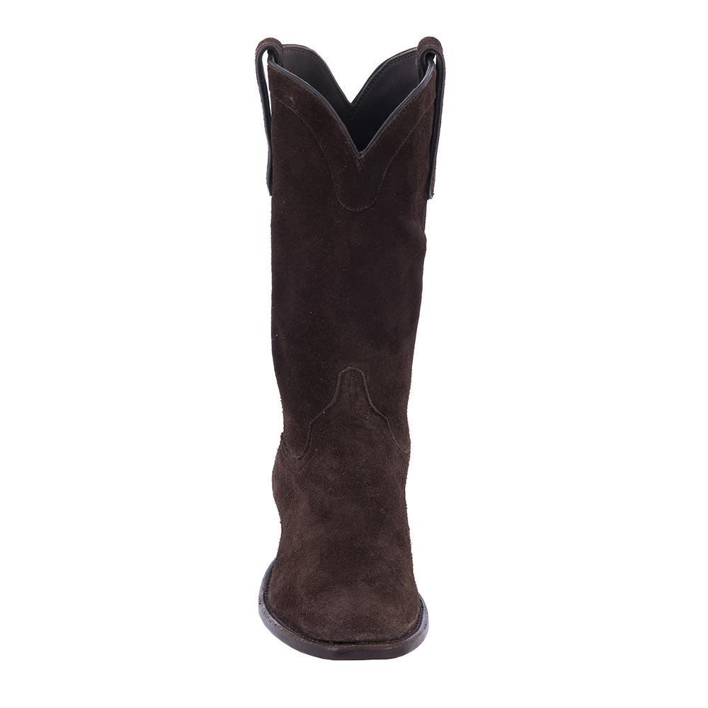 "Ladies 12"" Cowboy Chocolate Roughout"