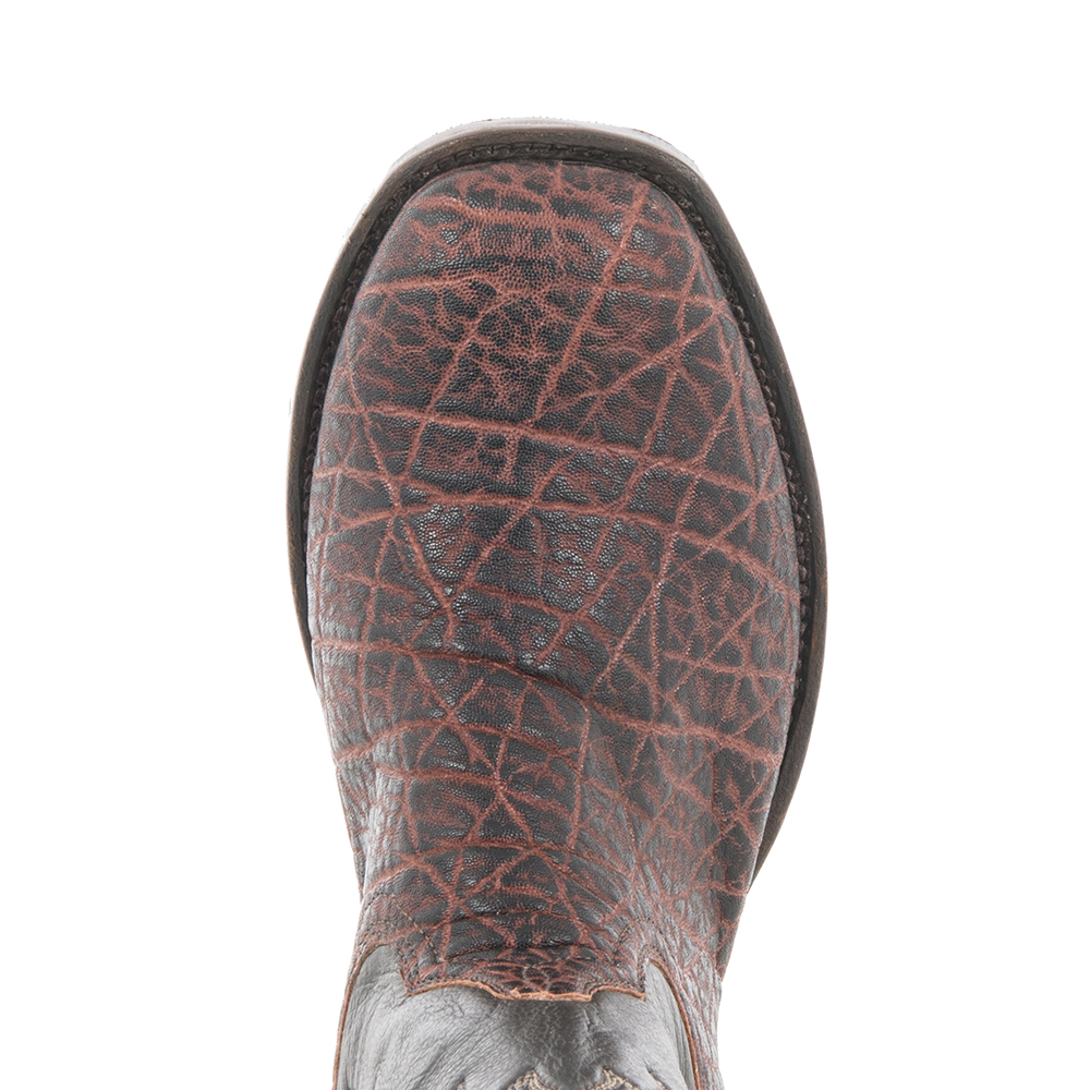 "Men's 12"" Cowboy Vintage Bark Elephant CH Aniline Stitched Top"