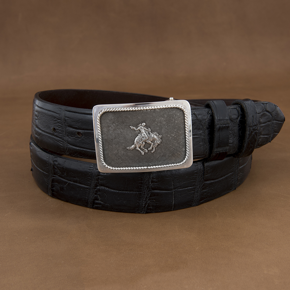 SUNSET TRAILS GROVE 4 BUCKLE W/ SS BRONC