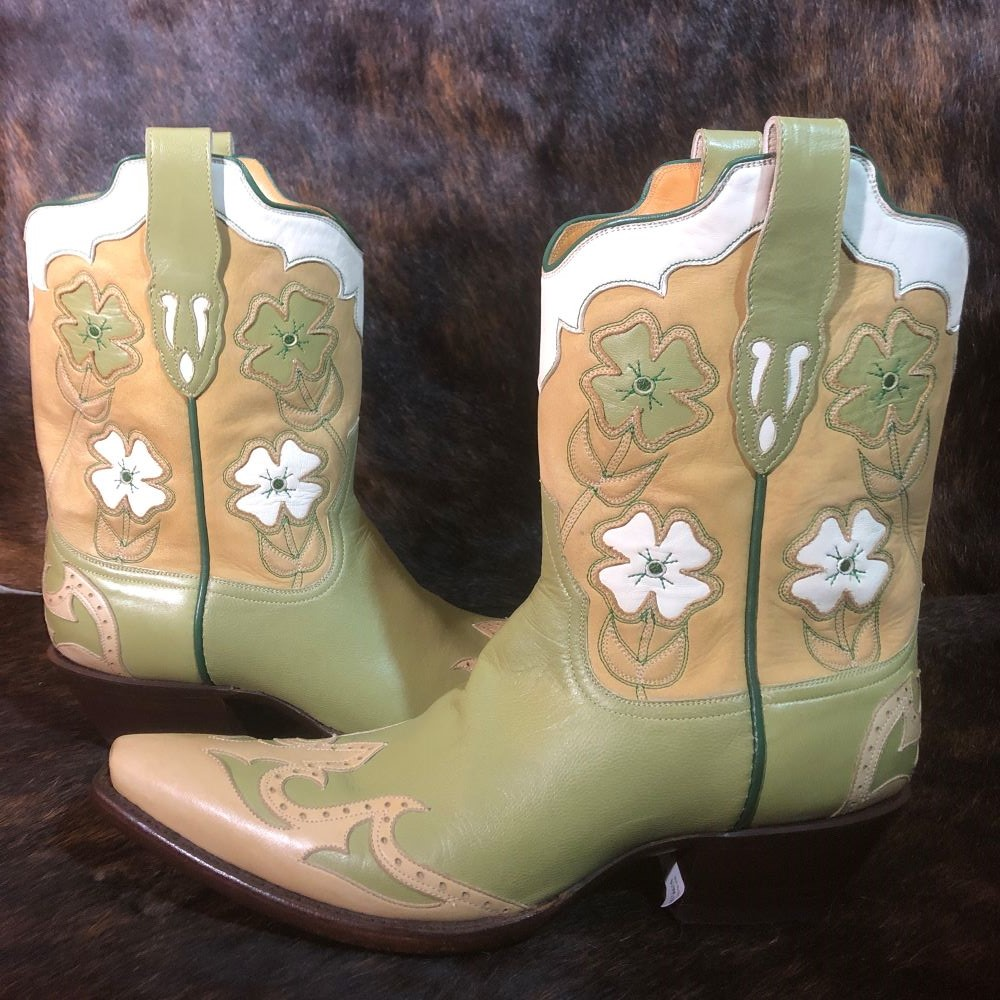 "LADIES STALLION LIME GREEN ""WAHOO"" BOOT"