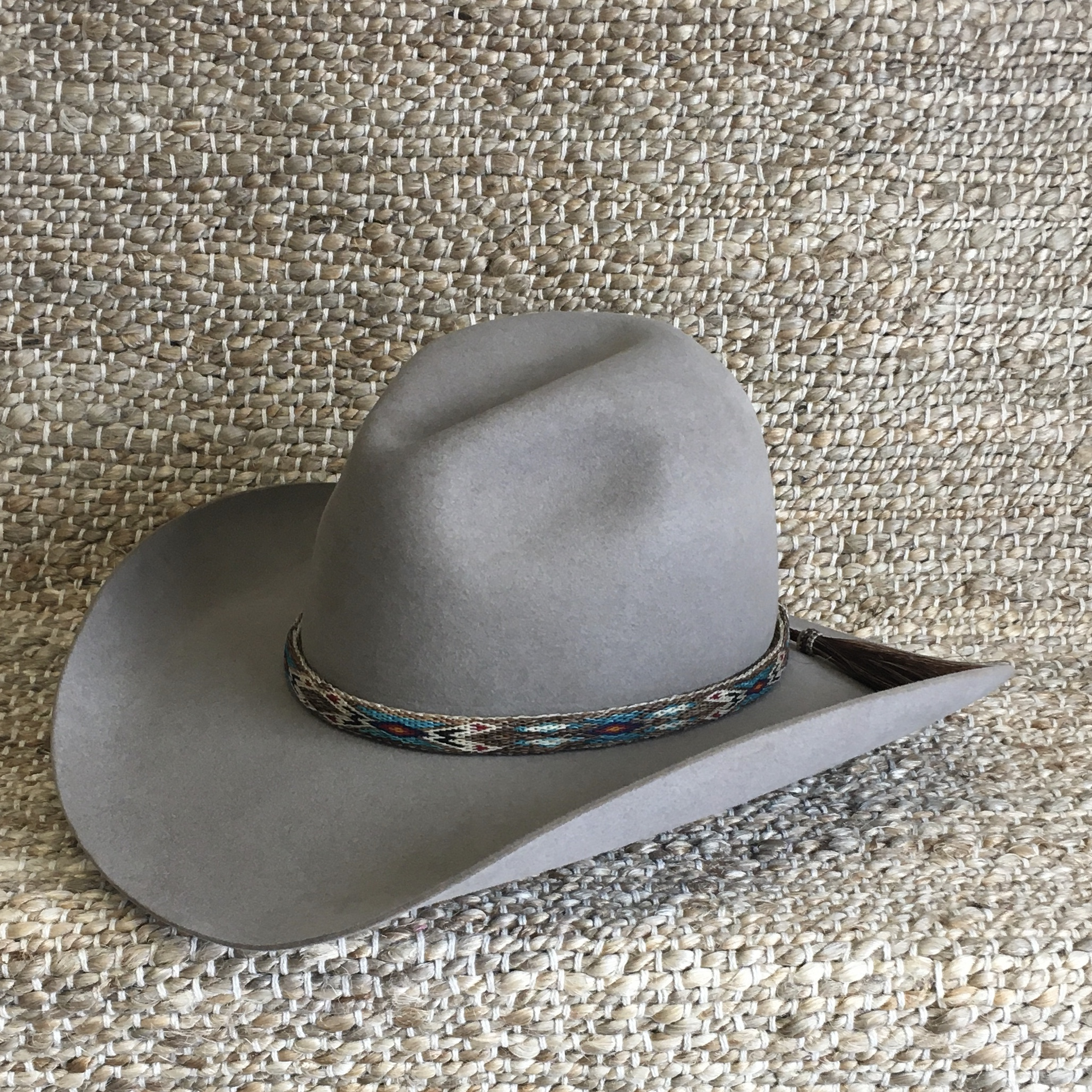 REVERSIBLE HATBAND BROWN/TQ/RED--BRN/NAT