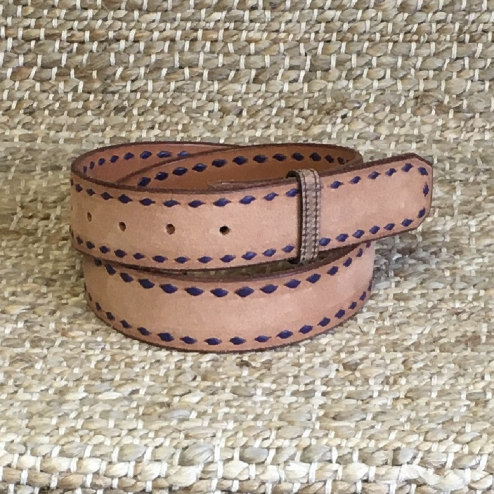BURNS PURPLE BUCK STITCH RUSSET RO BELT