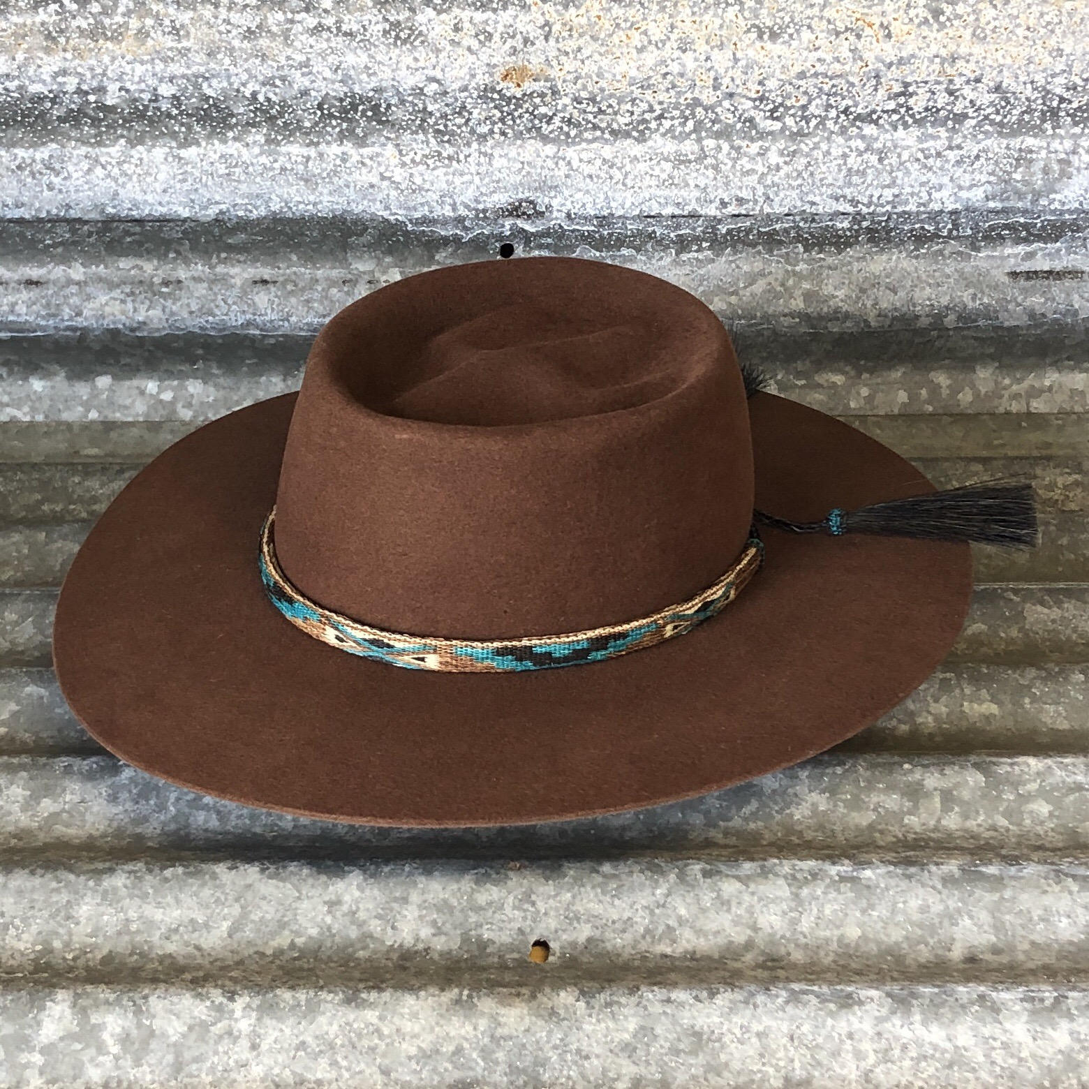 """CACTUS FLAT 3.75"""" RUST WITH REVERSIBLE BAND"""