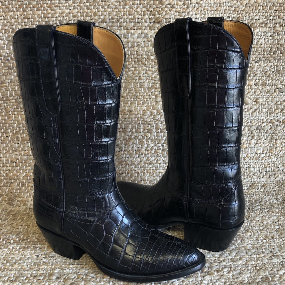 LADIES STALLION BLACK ALLIGATOR WESTERN