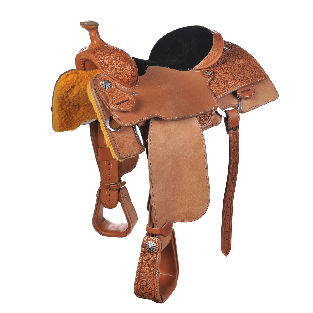 BURNS SADDLERY™ CALF ROPING SADDLE ()