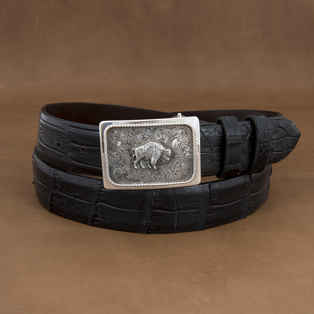 SUNSET TRAILS GROVE 5 BUCKLE W/ SS BISON