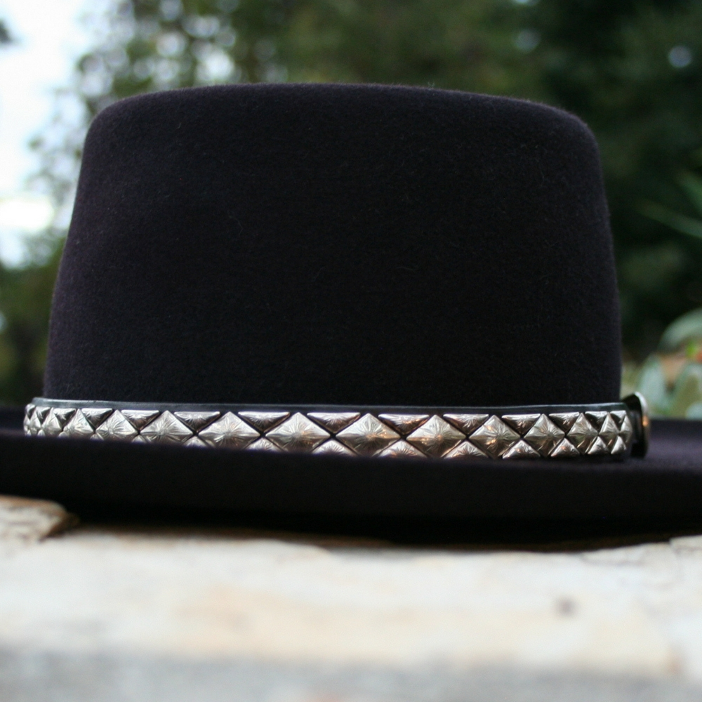 HAT BAND DIAMOND HALF DIAMOND STERLING  (3 AVAILABLE)