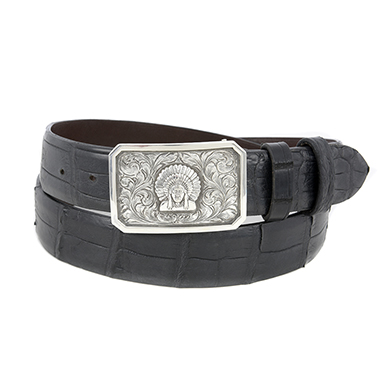 SUNSET TRAILS ENGRAVED RIDGE BUCKLE W/ CHIEF