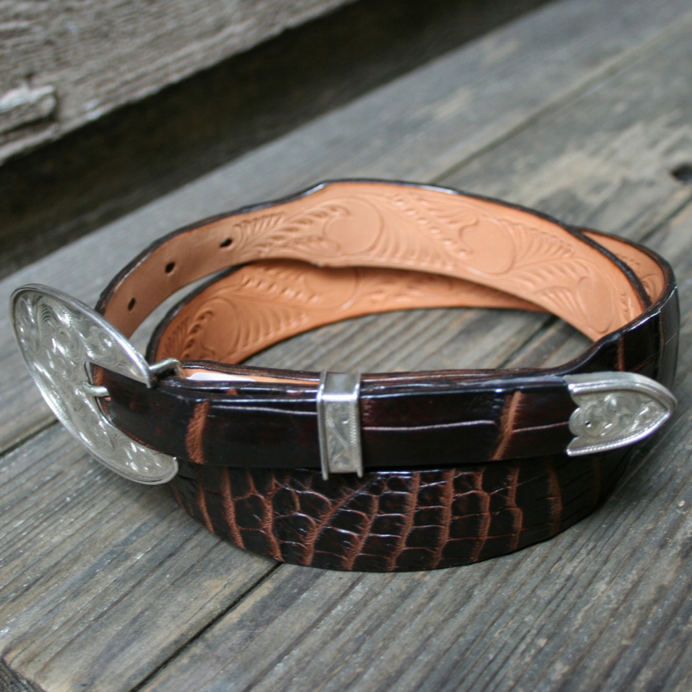 TAPERED CHOCOLATE NILE BELT NO BLLETS